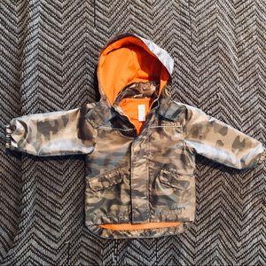 EUC Camo Raincoat/Windbreaker Jacket 2T
